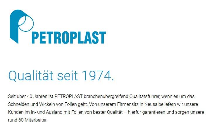 PETROPLAST GmbH - Hesteller für Folienzuschnitte und Folienverarbeitung sowie Lebensmittelfolien